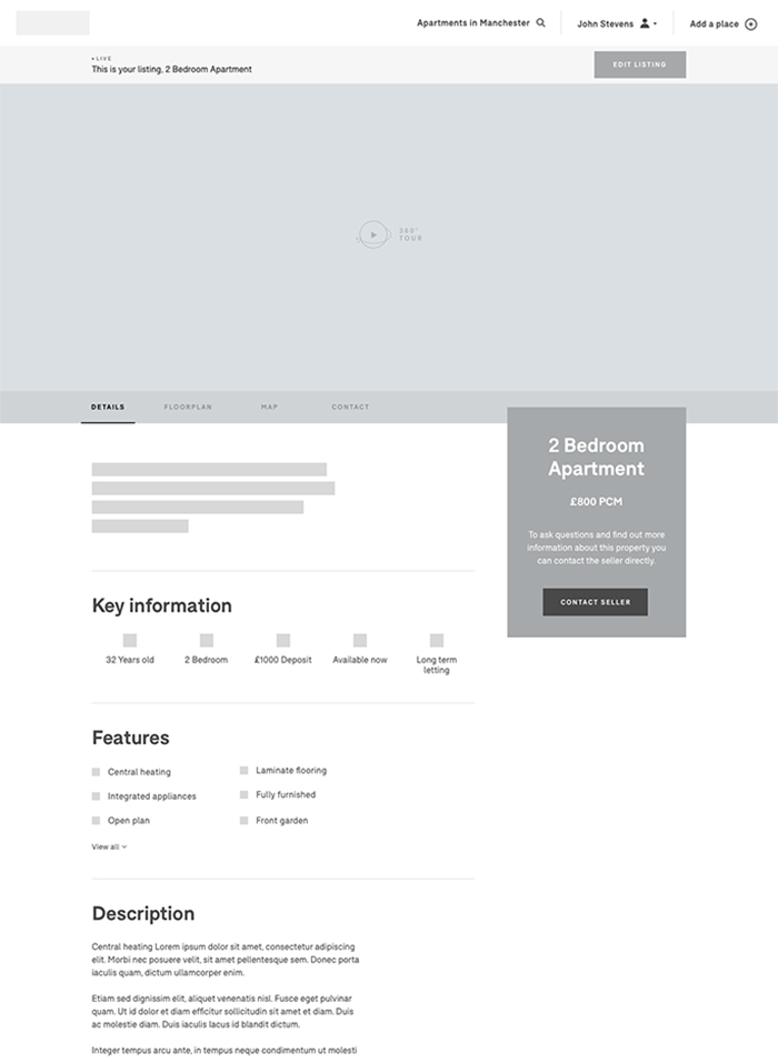 3xplor UX Wireframe