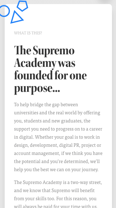 Supremo Academy Mobile Screenshot