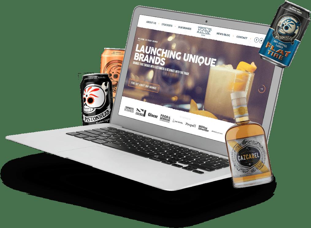 Proof Drinks Desktop Mockup