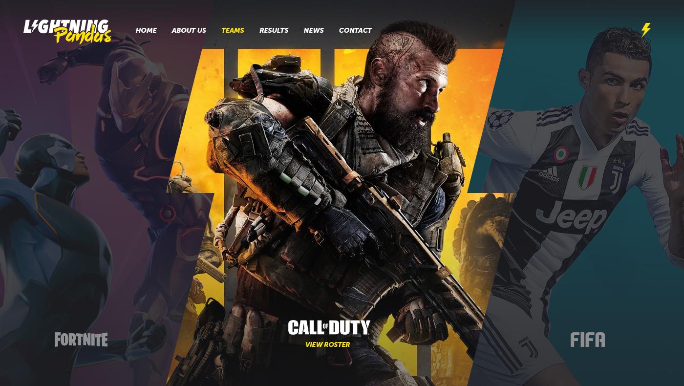 eSports Website Concept cover photo