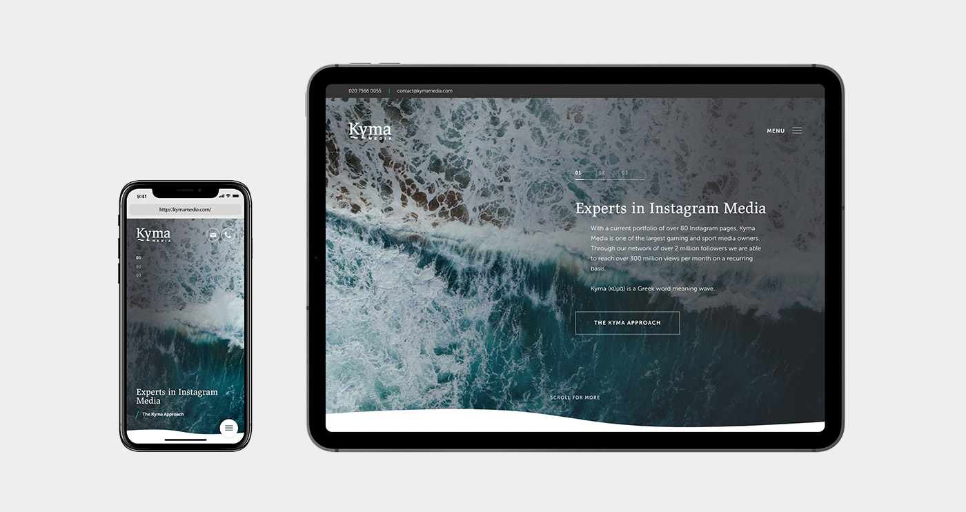 Desktop and Mobile UX example