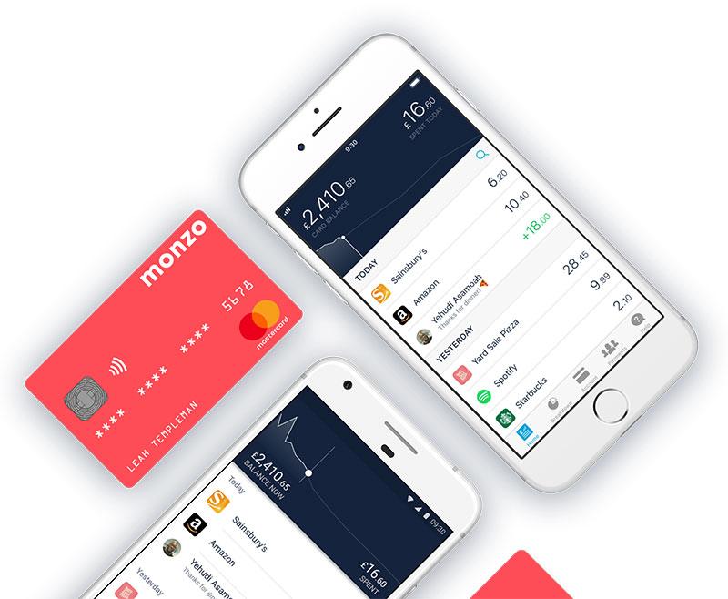 Monzo App Mobile UX