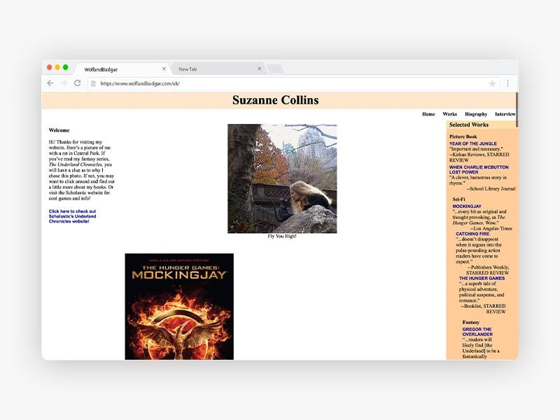 Suzanne-Collins-Website