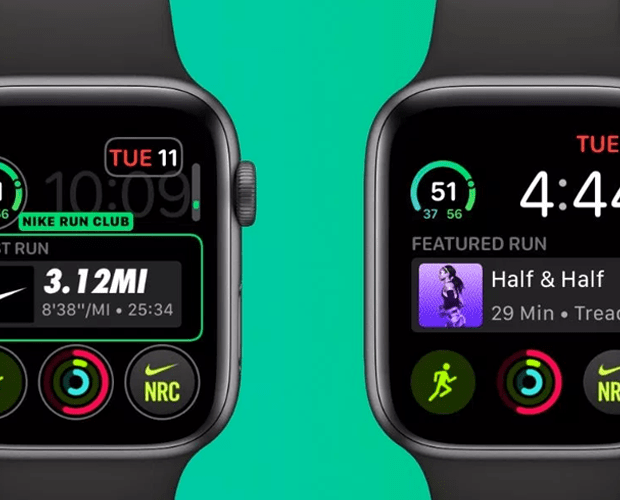 Nike Running app on smart watch
