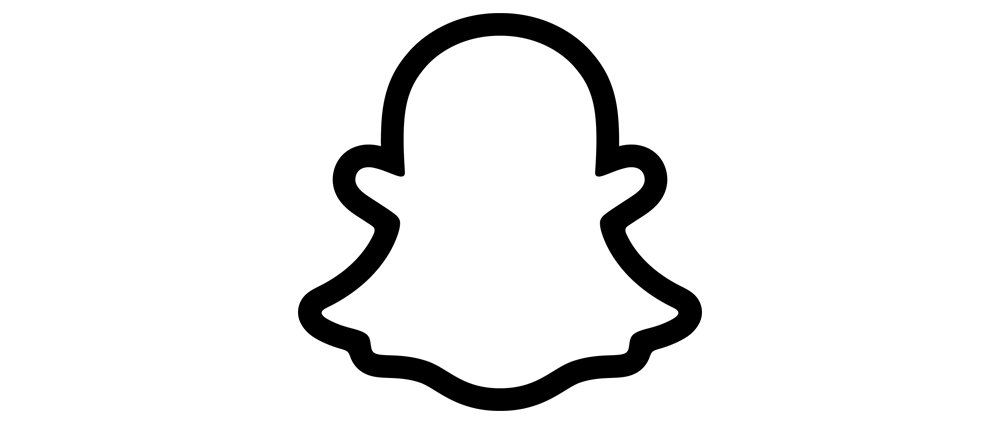 The company Snapchat's logo in the shape of a ghost